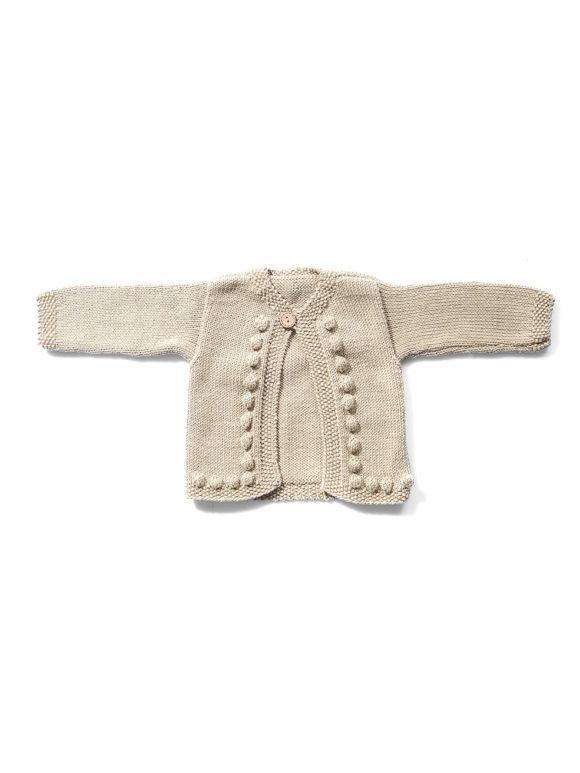 Kaunos cardigan organic hand knitted