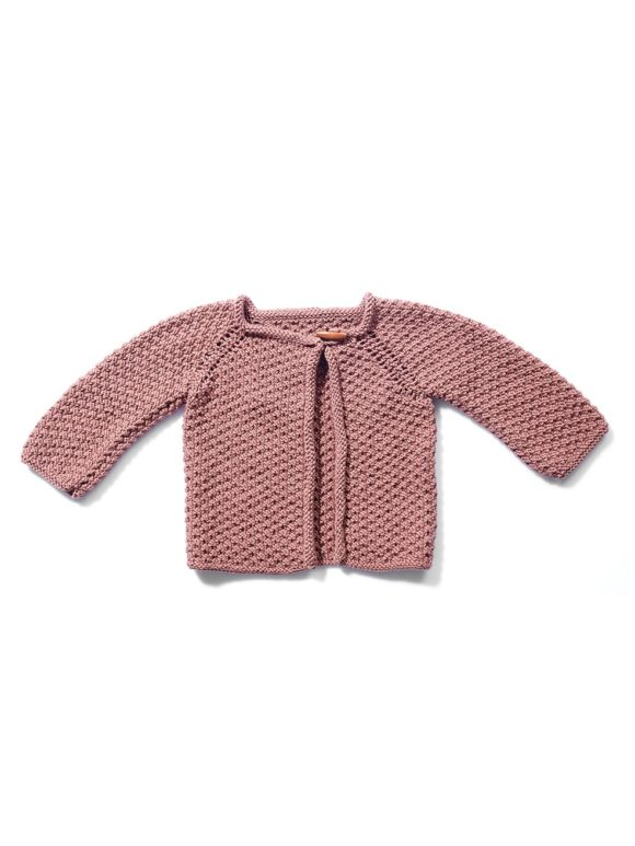 Perge Cardigan hand knitted organic cotton
